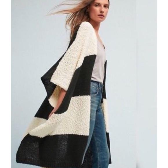 9a95e9c97da Anthro Madison 88 Stripe Kimono Sweater